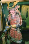 Model of Japanese samurai warrior